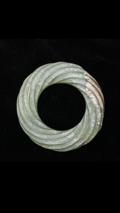 Chinese Jade Bi Disk Ring, Eastern Zhou Dynasty, ca. 770–256 BC. http://www.pinterest.com/saunderseric/jade/