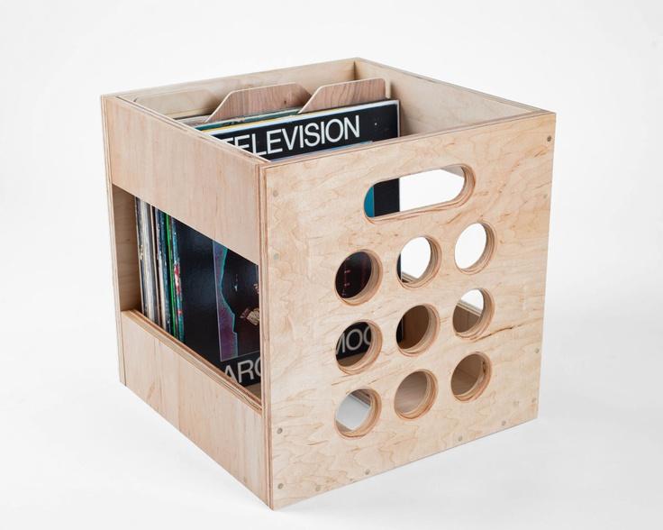 50 best lp record storage crates images on pinterest for Diy vinyl storage