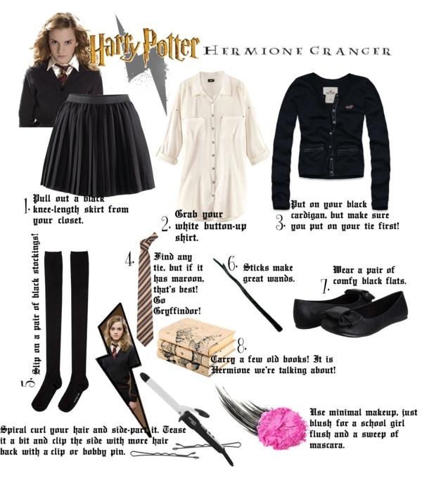 Hermione DIY Halloween Costume by kassyshimotsu on Polyvore