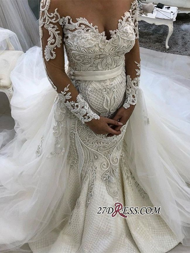 87b43a0e61 Glamorous Long Sleeve Lace Wedding Dresses