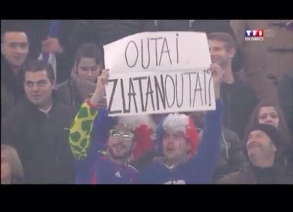 Zlatan absent mais quand même chambré - http://www.actusports.fr/124790/zlatan-absent-meme-chambre/