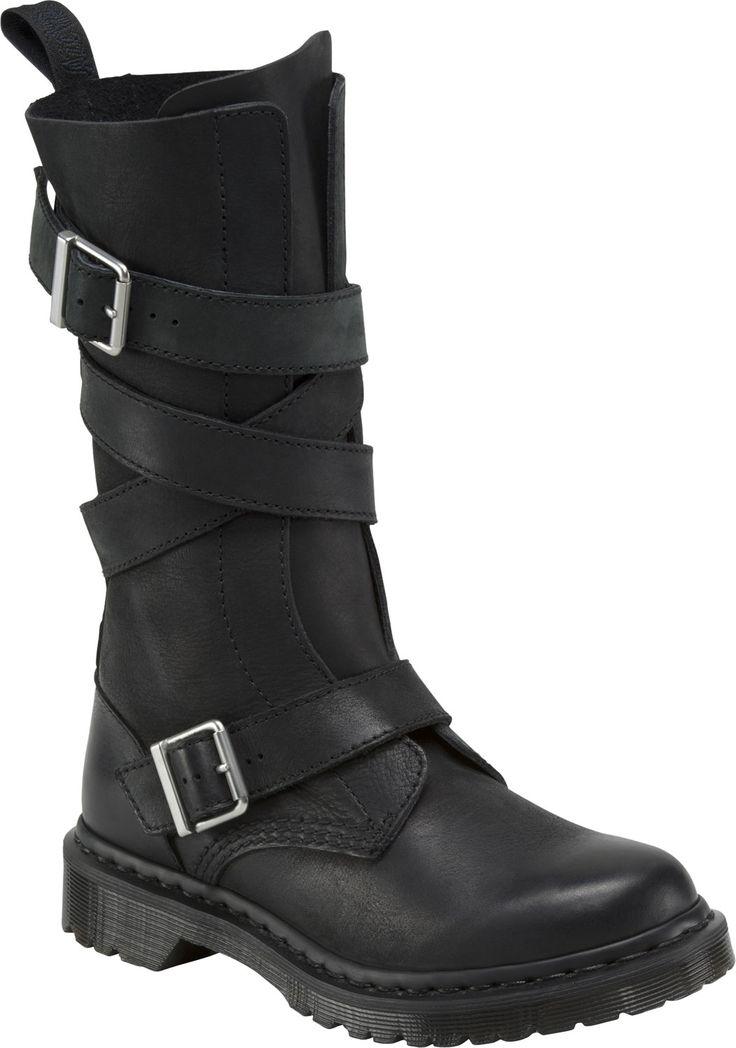 Dr. Martens Lauren Calf Strap Boot women's calf boots (Black)