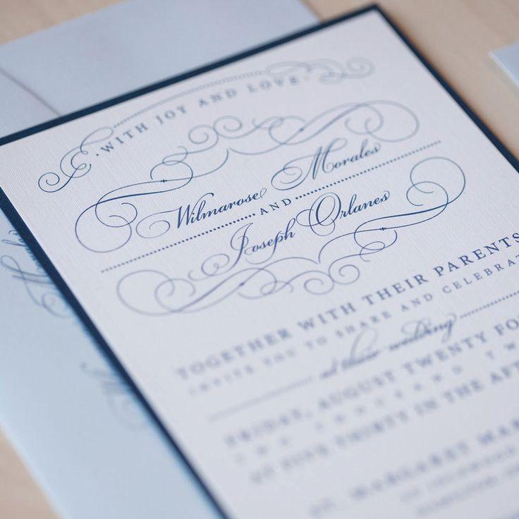 Romantic Flourish Wedding Invitation, vintage invitation, flourish ...