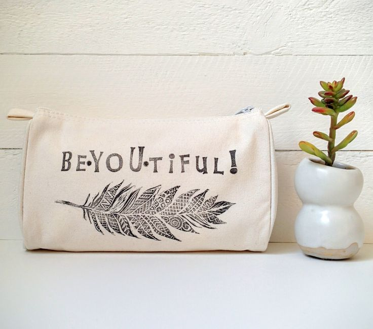 This sweet boho chic zippered pouch is a loving reminder to be beYOUtiful! In a world filled with not so positive messages, girls and women need to affirm their worth every day! What a wonderful way to feel good about YOU!