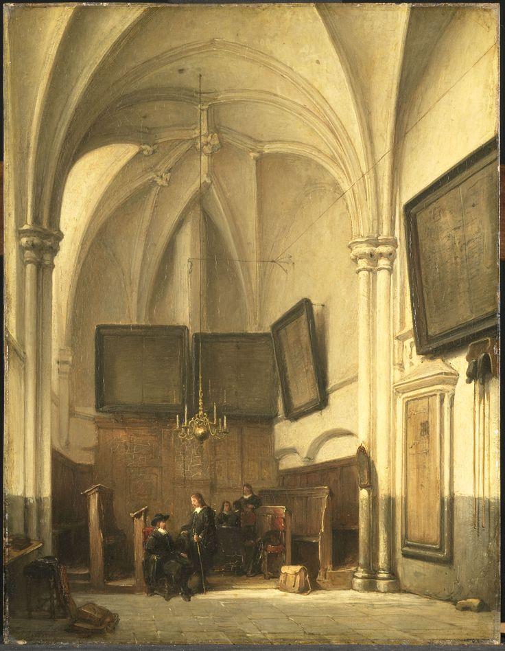 De consistoriekamer van de Sint Stevenskerk te Nijmegen. Johannes Bosboom 1891