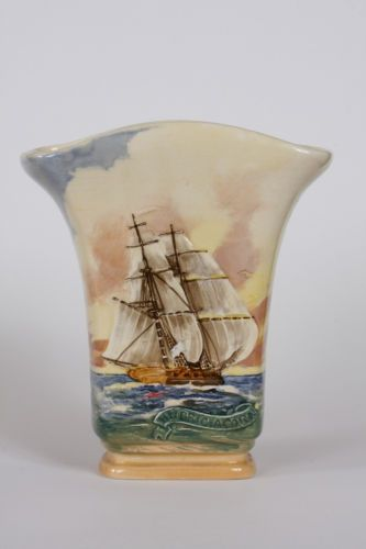 Royal Doulton Famous Ships HM Bric Acorn Medium Vase Circa 1938 1958   eBay