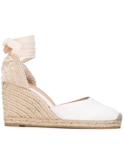 Shoppen Castañer Wedge-Sandalen mit Knöchelband.