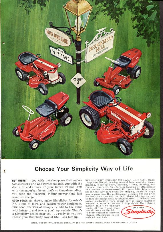 Montamower Print Ad Vintage 1951 Home Lawn Care Lawnmower