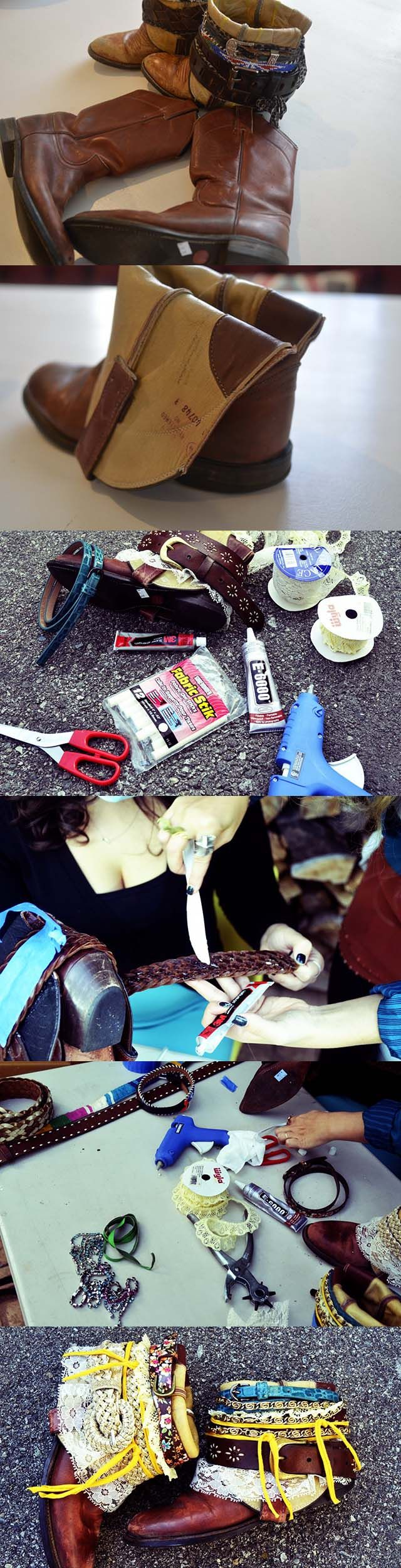DIY Bohemian Boots|Add A Little Flair To Old Boots | Pinkous