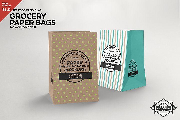 Download Grocery Paper Bags Packaging Mockup 284105 Branding Design Bundles Packaging Mockup Food Box Packaging Free Packaging Mockup