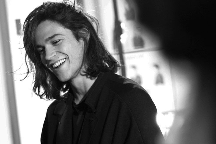 Miles McMillan at John Varvatos FW14 Backstage in Milano