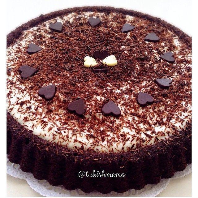çikolatalıtartkek 'i kremalı denediniz miii️buyurun tarife kremalıtartkek KREMALI TART KEK Kek için: