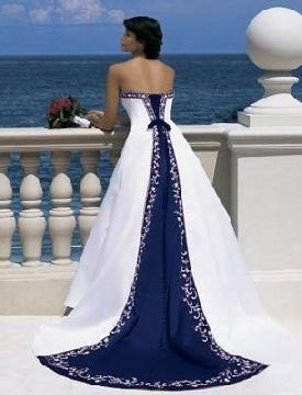 blue wedding dresses nyc