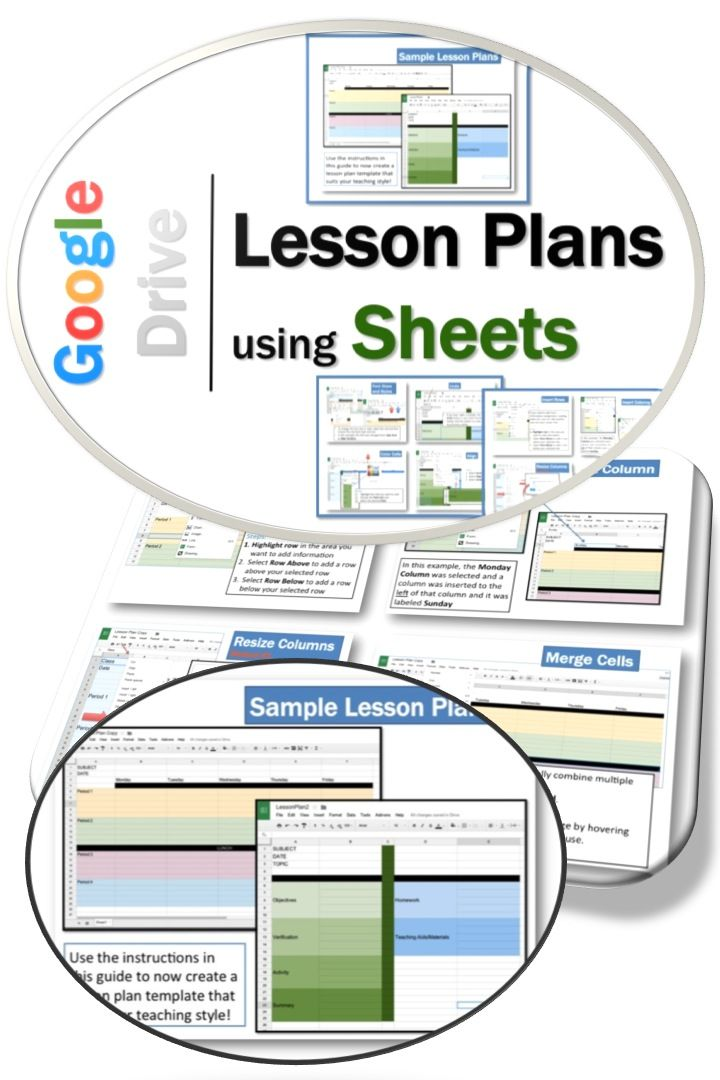 •	This guide shows you how to create your own individualized Lesson Plans using Google Sheets. •	Google Sheets is an online spreadsheet app that lets you create and format spreadsheets and simultaneously work with other people.  •	You can create whatever plan suits your needs depending on grade level, subjects taught, school schedule etc. using the instructions contained in this guide.