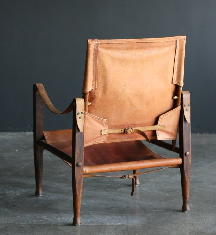Kaare Klint Safari Chair | From a unique collection of antique and modern armchairs at https://www.1stdibs.com/furniture/seating/armchairs/