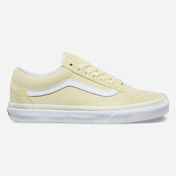 Vans Old Skool Tender Yellow & White Suede Skate Shoes