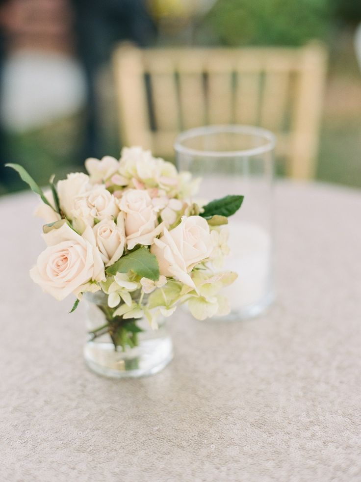 Less Is More Centerpiece Greensboro NC Wedding Planner