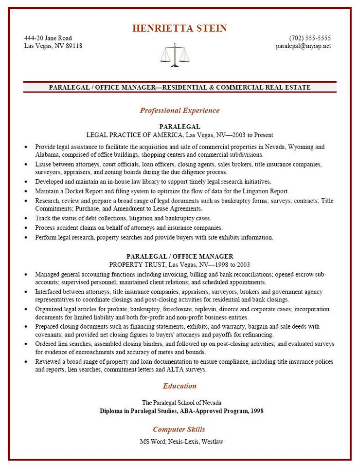 Certified Paralegal Resume Sample - http://resumesdesign.com/certified-paralegal-resume-sample/