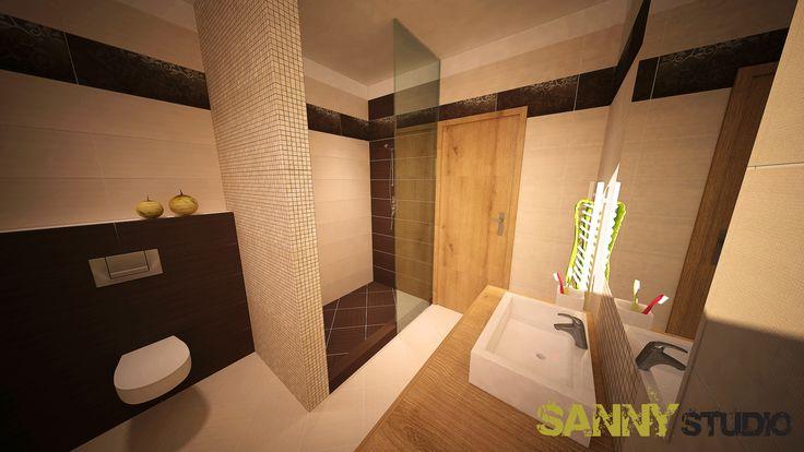 Návrh kúpeľne do rodinného domu v Alžbetinom dvore.
