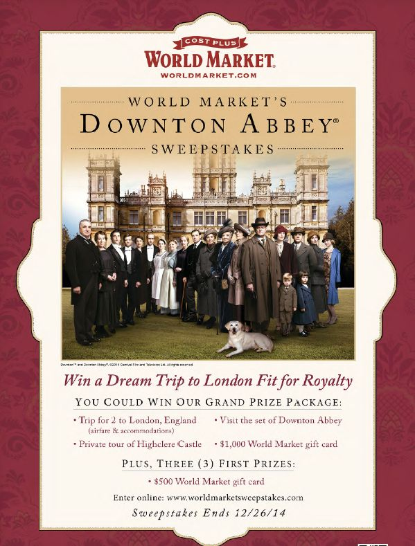Downton Abbey Virtual Tea Party  Again this year.  Don't miss!