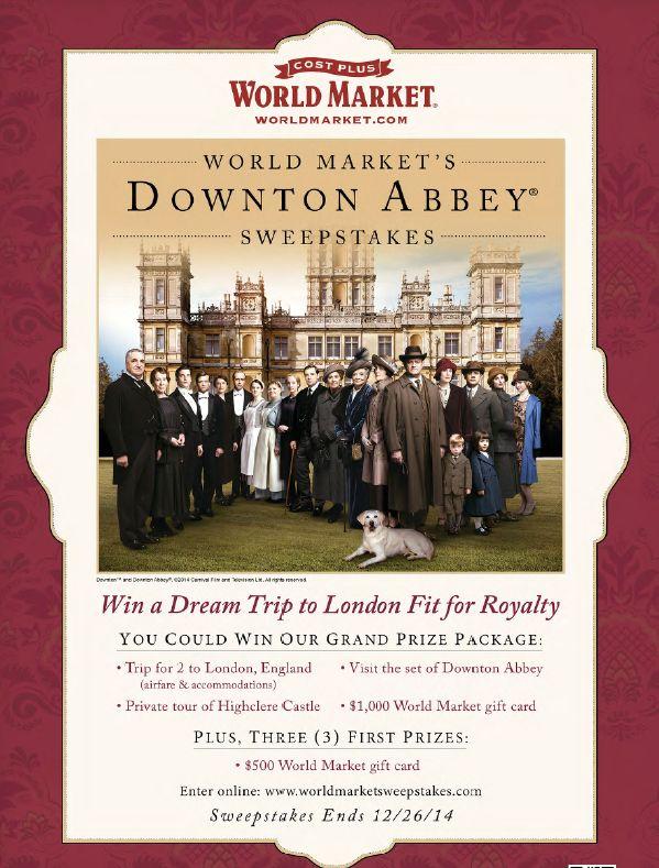 Downton Abbey Virtual Tea Party  Again this year.  Don't miss!