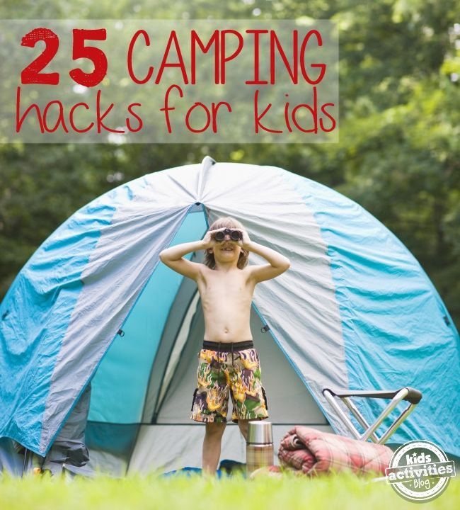 We all know that we don't want to bring technology camping, but sometimes rain happens, or your kids need an activity to wind down. Time for DIY ipod speakers and lotsa more. Read on! https://web.kidsactivitiesblog.com/55074/camping-tips-hacks-families #camping #kids #bonding