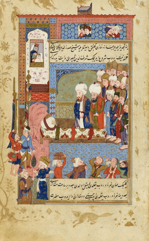 The Life of Rumi in Rare Islamic Manuscript Paintings from the 1590s | Brain Pickings. Funeral of Rumi.