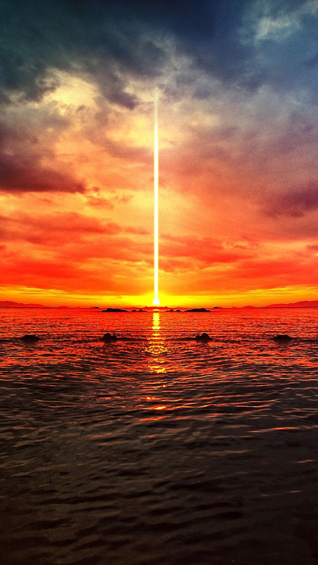 Digital Apocalypse iPhone 5 Wallpaper SUNRISE SUNSET