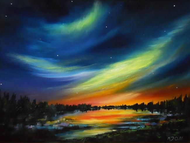 17 best images about northern lights paintings on for Lights for paintings