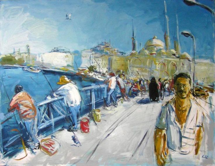 Galata (Istanbul) by Martin Květ  http://www.almondarte.com/products/view/10077