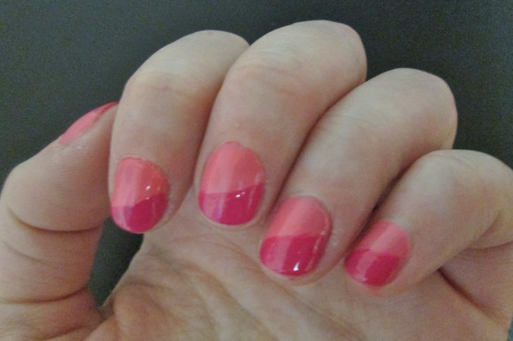 My pink nail design | Painted Nails | Pinterest