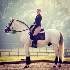 Fer Buleria and Valentina at Villa Equus, the dressage paradise created by Spain's Olympic medalist and fantastic athlete Beatriz Ferrer Salat.
