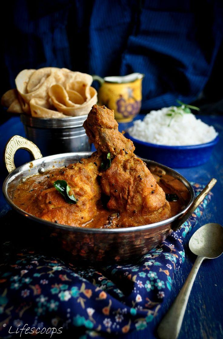 Nadan Kozhi Curry / Kerala Style Chicken Curry with Coconut / Indian Chicken Curry with Coconut Paste
