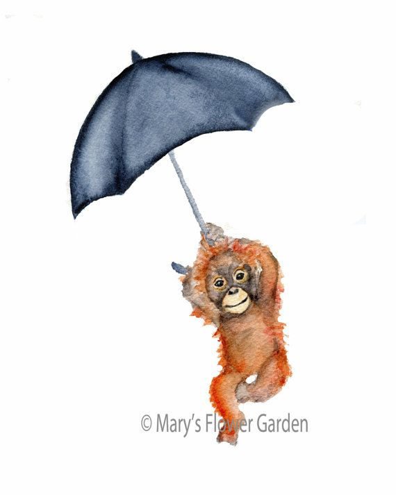 Orang-Utan mit Marine Dach Kindergarten drucken   Vertikal drucken Sie aus meinem original Aquarell  Wählen Sie mithilfe der Drop down-Box Ihre Größe  3 Größen verfügbar... 11 X 14, 5 x 7 und 8 X 10  gedruckt auf 100 % archival Baumwolle Lappen Fine Artpapier - 2 Farben verfügbar... weiß/naturweiss weiß oder Natur  Epson Ultra Chrom archival Pigmenttinten werden verwendet.  Drucke werden innerhalb einer schützenden Hülle innerhalb eines steifen Foto-Mailer versendet  Copyright Mark…