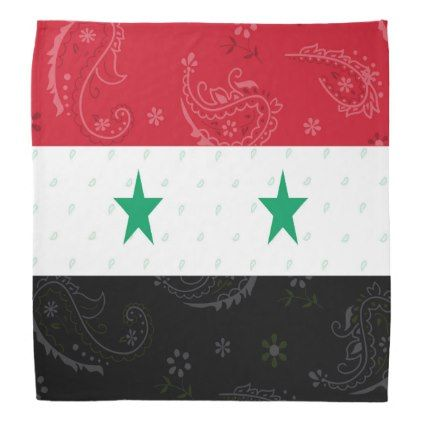 Syria Flag Bandana - accessories accessory gift idea stylish unique custom