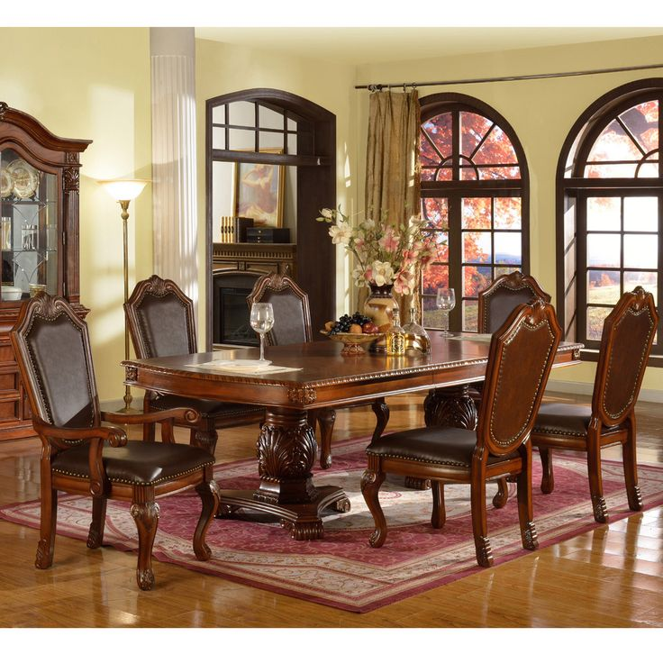 Neo Renaissance Traditional Formal Dining Upholstered Side: 1000+ Images About Kitchen Tables On Pinterest
