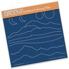 Claritystamp Mountains & Hills A5 Groovi Parchment Embossing Plate GRO-LA-40007-