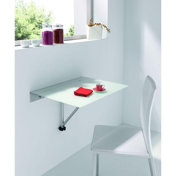 Delumu   cocina funcional   mesa desayuno plegable sobre pared ...