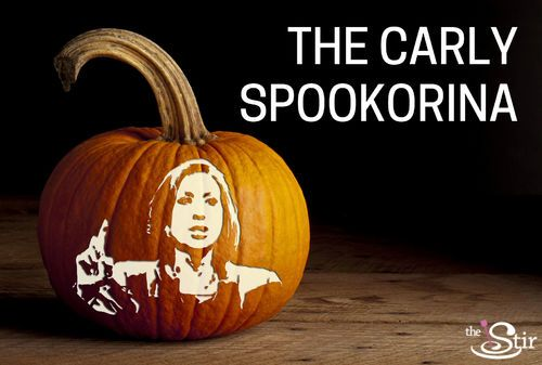 Everything you'll need for this Carly Fiorina pumpkin! LOL.  http://thestir.cafemom.com/politics_views/191171/hold_a_presidential_pumpkincarving_party