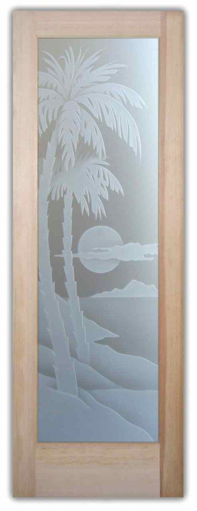 Palm Sunset 3D Exterior Glass Doors