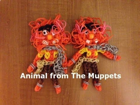 ANIMAL from The Muppets on The Rainbow Loom. An Original Design by MarloomZ Creations. Click on photo for YouTube tutorial.