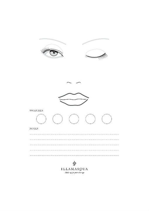 Blank face chart