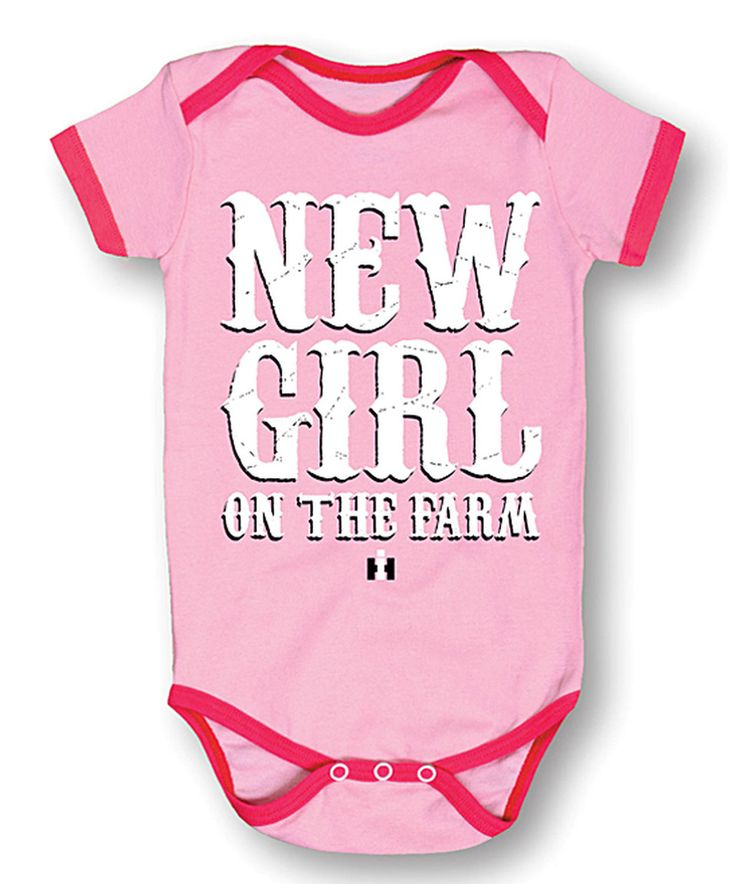 Love this International Harvester Pink 'New Girl on the Farm' Bodysuit - Infant by International Harvester on #zulily! #zulilyfinds