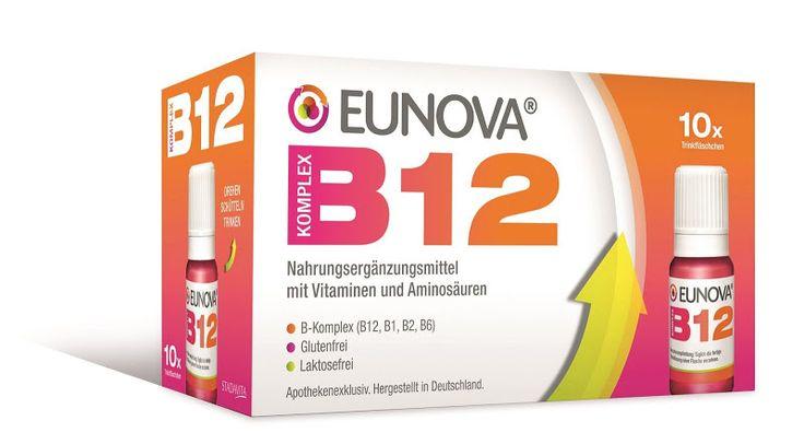 Die Anzeichen für eine Vitamin B12-Unterversorgung sind vielfältig: Sie können von Lustlosigkeit über Nervosität bis hin zu einer Konzentrationsschwäche reichen. Mit EUNOVA B12 Komplex gibt es ab sofort ein neues Nahrungsergänzungsmittel von STADAvita, mit dem die Vitamin B12-Speicher wieder aufgefüllt werden können.