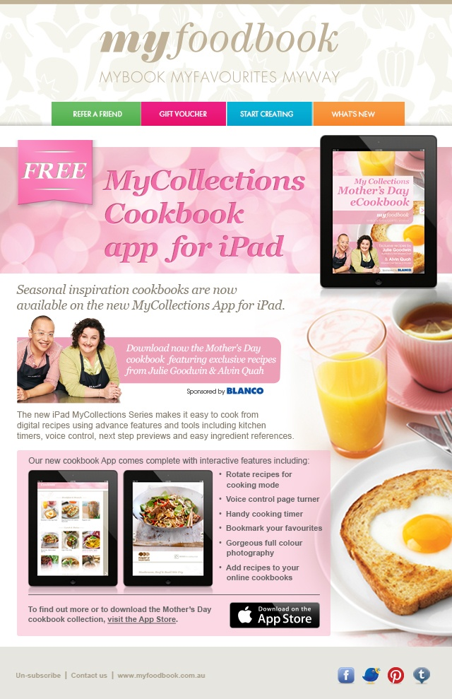 Download our new FREE iPad cookbooks!
