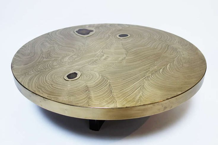 Etched Brass Coffee Table with Agate Inlays by Fernand Dresse | Antiques,  Of and Furniture - Etched Brass Coffee Table With Agate Inlays By Fernand Dresse