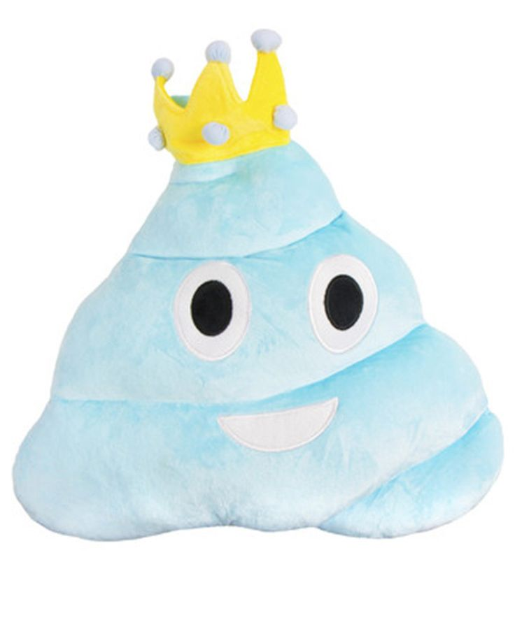 PRINCESS BLUE POOP EMOJI PILLOW