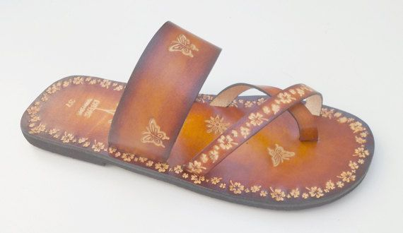 Comfy and Lovely Lady Slip On Flat Summer Handpainted by Calpas