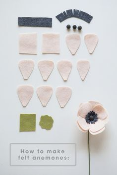 Tuto-All the petals you will need to make a darling felt anemone!