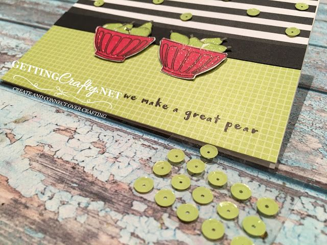 Getting Crafty with Jamie: A pear of friends.. handmade card #FruitBasket #TuttiFruiti #Stampinup